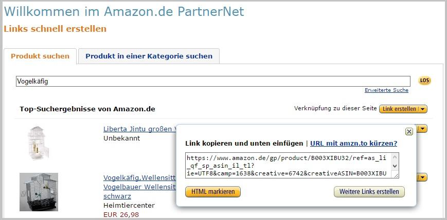 Amazon Partner Affiliate Programm